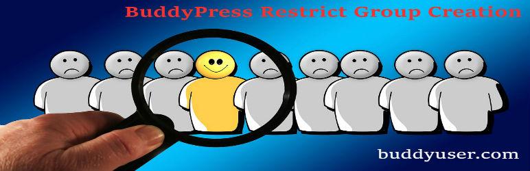 BuddyPress Restrict Group Creation