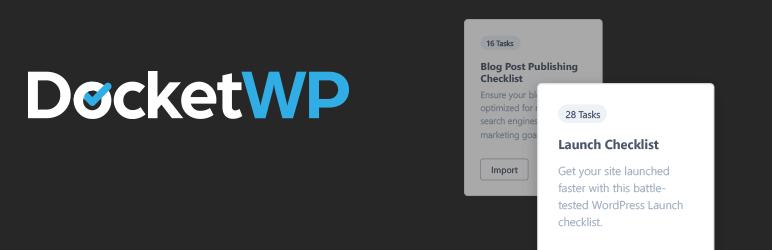 Docket WP 待办事项 自定义清单 网站清单 生产力工具