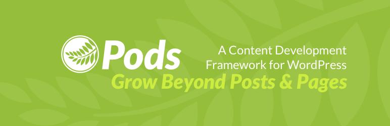 Pods 自定义字段 开发工具 自定义文章类型 选项页面