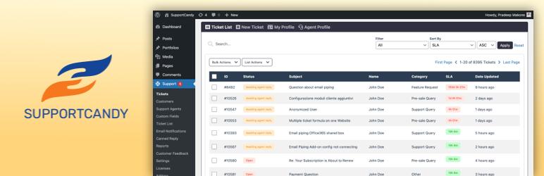 SupportCandy 工单系统 支持工单 客户支持